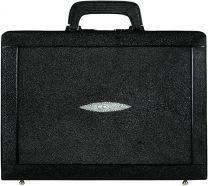 Pijlstaartrog leren attache koffer A050Black