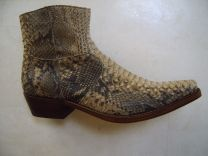 Beige Python, slangenleren laarzen