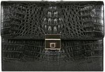 Alligator leren handtas MCM10Black