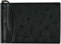 Struisvogel leren money clip OS2392Black