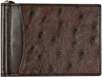 Struisvogel leren money clip OS2392ABrown