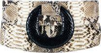 Python slangenleren tas PBG834PT Natural