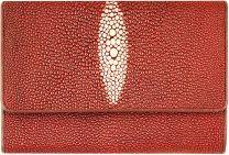 Pijlstaartrog leren portemonnee/portefeuille PR814 Burgundy