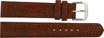 Pijlstaartrog leren horlogebandje SWB004SA Burgundy