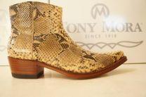 Tony Mora Python leren, slangenleren laarzen kleur natural
