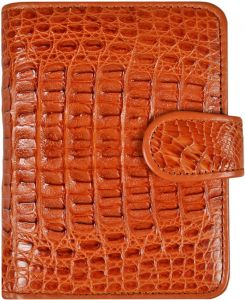 Alligator leren dames portemonnee ALD122Tan