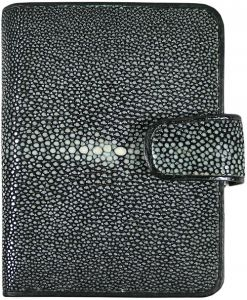 Pijlstaartrog leren portemonnee B012-01SABlack