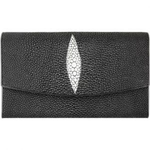 Pijlstaartrog leren dames portemonnee PR04 Black